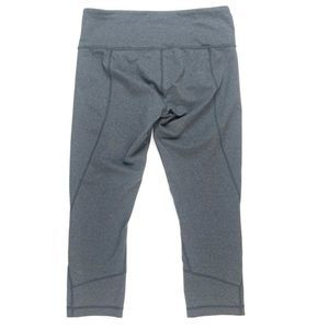 Lululemon Crops SZ 8 Gray Fitted Running Yoga